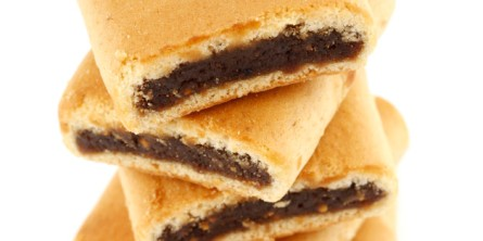 Stack of Fig Bar Cookies